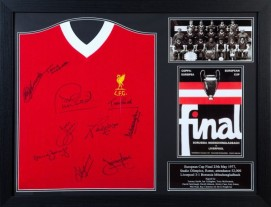 1977 European Cup Signed by 10 - Liverpool